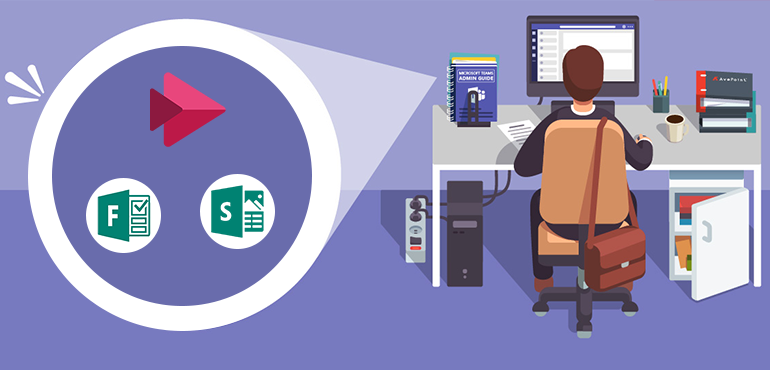 Microsoft teams programs in an office environment
