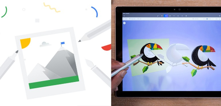 Drawing and design apps - About Google Chrome Canvas and Microsoft Paint 3D