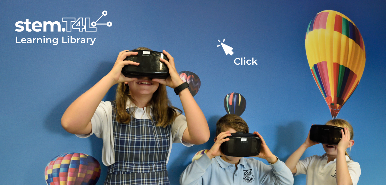 Students with VR goggles